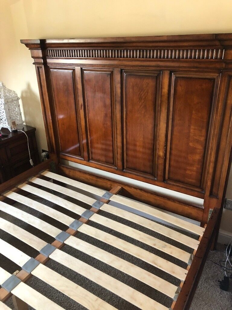 american cherry wood bed frame king size from sterling. Black Bedroom Furniture Sets. Home Design Ideas