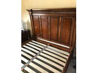 American Cherry Wood Bed frame KING SIZE from Sterling Furniture (pick up only)