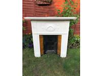 Original Victorian cast iron tiled fireplace in a good condition