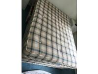 Double bed with soft mattress and draws