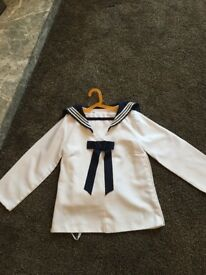 White Highland Dancing Sailors Outfit