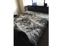 Tv bed frame and mattress