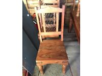 Solid wood table x6 chairs