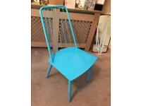 4 Blue Next Metal Chairs