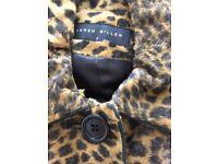 Karenmillen leopard faux ponyskin coat