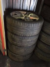 """GENUINE AUDI 19"""" ALLOY WHEELS AND TYRES"""