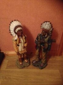 Two ornamental Indians