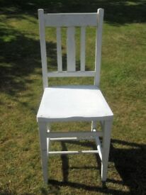 Vintage Wooden Church Chairs/ Dining Chairs - Set of 4