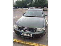 Audi A4 for sale. Needs work doing! MOT Jan 17