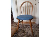 ERCOL Windsor Quaker Solid Elm Wood Chair Office Dining Kitchen Bedroom