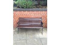 Antique Garden Bench in Pre loved good condition. Lovely Iron work and design.