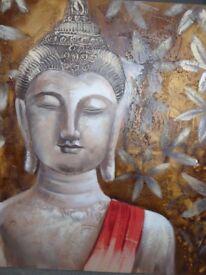 Large Buddha canvas