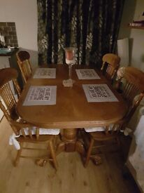 Dining table and chairs reduced!!