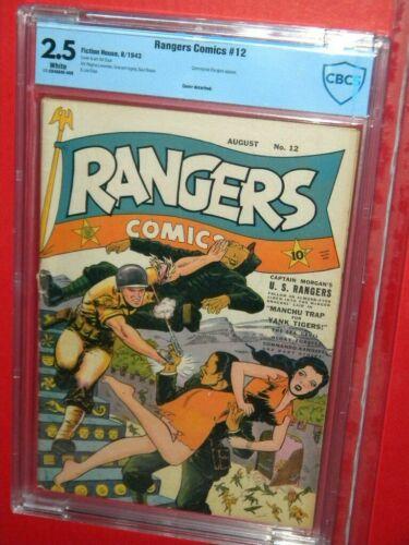 RANGERS COMICS #12 COMMANDO RANGERS FICTION HOUSE 1947 CBCS 2.5 GD+