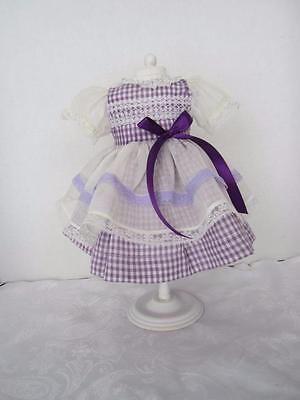 Vintage Handmade Purple Gingham Dress  Fits Charmin Chatty  FREE SHIPPING