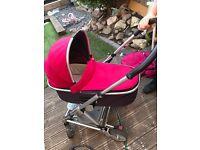 Pink/purple Mamas and papas urbo 2 pram/buggy
