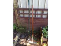 Garden Hoe & Garden Rake
