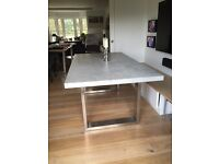 """New dining table """"stone"""" look"""