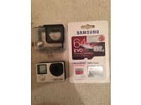 Go pro hero 4 silver, with brand new 64gb samsung card