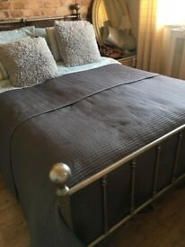Heavy antique double bedframe. Excellent quality. £100. Collection Only.