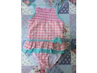 Pink polkadot swimming costume (2 - 3 years)