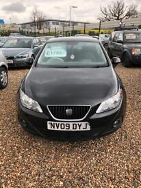 Seat Ibiza 2009 1.4 Petrol Black 3 Door