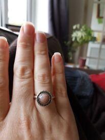 Pandora rose quartz ring size 54