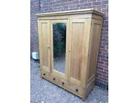 A STUNNING 19th CENTURY VERY LARGE ANTIQUE DUTCH SOLID PINE ARMOIRE WARDROBE