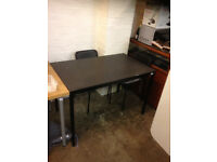 dining table ikea black with 4 chairs