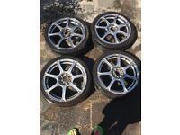 """Wolfrace alloy wheels 17"""""""