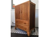 Vintage Rustic Solid Wood Oak Cabinet/ Tallboy/ Chest of Drawers