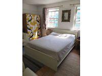 Vintage wardrobe & double bed
