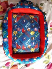 Sonic beanbag cover for kids tablet