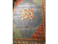 Large Colourful New Zealand Wool Rug