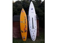 Two windsurf boards Veloce 328 and F2 sunset slalom