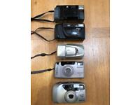 Job lot of 5 film based compact cameras