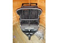 Out n About Nipper 360 V2 Double Pushchair in Black