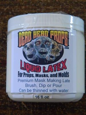 Liquid Latex Halloween Mask (1 PINT (16 OZ) LIQUID LATEX FOR HALLOWEEN PROPS, MASKS OR)