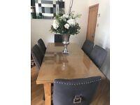 New Extending Oak Dining Table