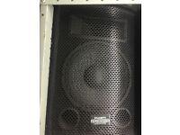 PA System - KAM speakers, flightcase rack, Palladium 400w Amp, Alesis iMultimix Ipod mixer, cables