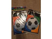 10 x Party Loot bags with football picture