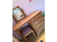 Urgent sale* Solid Wooden dressing table