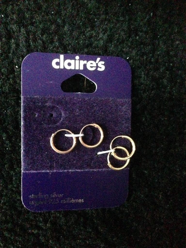 Silver earrings unworn