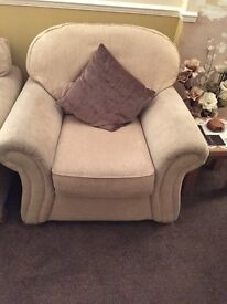 Beige Sofa (2 Seater&2 Armchairs)