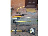 Ryobi petrol grass trimmer / line trimmer / strimmer 25cc with separate attachments