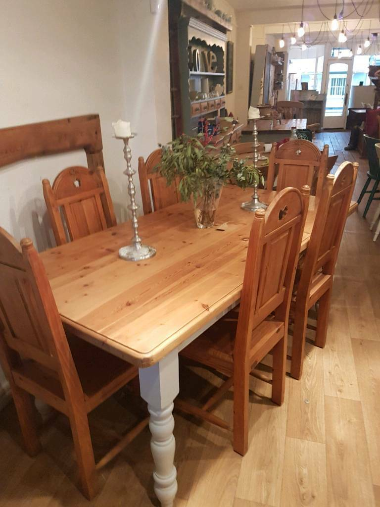 Pine farmhouse Table and chairs