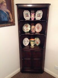 Ercol Colonial Corner Unit - Display Cupboard - UK Delivery Available