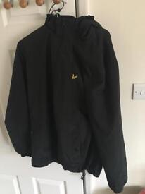 Men's Lyle & Scott Black Hooded Jacket