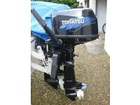 TOHATSU 4HP FOURSTROKE LONGSHAFT OUTBOARD ENGINE