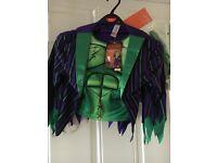 Frankenstein dressing up top,mask & gloves . 5/6 yrs .New